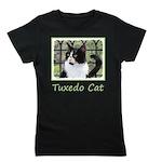 Tuxedo Cat in Window Girl's Tee