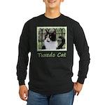 Tuxedo Cat in Window Long Sleeve Dark T-Shirt