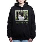 Tuxedo Cat in Window Women's Hooded Sweatshirt