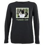 Tuxedo Cat in Window Plus Size Long Sleeve Tee