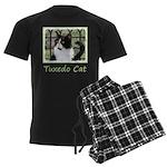 Tuxedo Cat in Window Men's Dark Pajamas