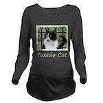 Tuxedo Cat in Window Long Sleeve Maternity T-Shirt