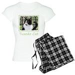 Tuxedo Cat in Window Women's Light Pajamas