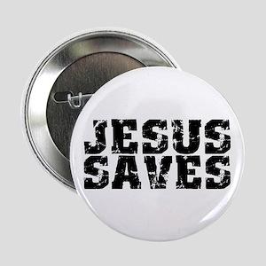 "Jesus Saves bk 2.25"" Button"