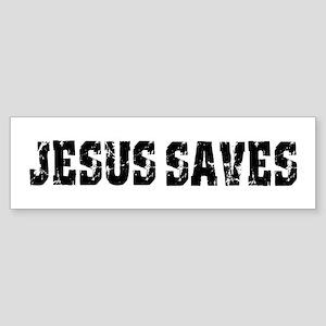 Jesus Saves bk Bumper Sticker