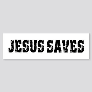 Jesus Saves bk Sticker (Bumper)