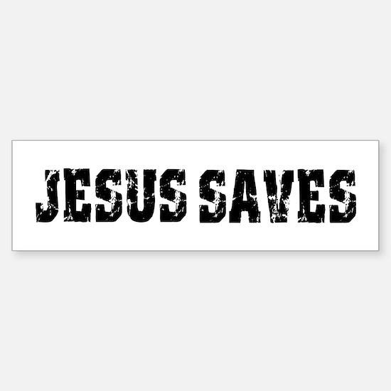 Jesus Saves bk Bumper Bumper Bumper Sticker