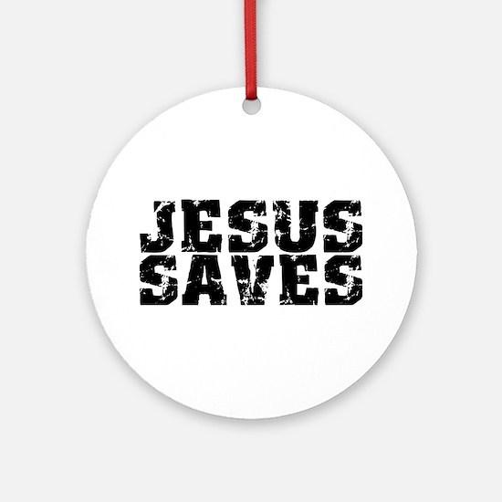 Jesus Saves bk Ornament (Round)