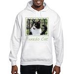 Tuxedo Cat in Window Hooded Sweatshirt