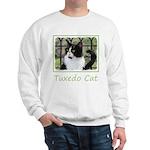 Tuxedo Cat in Window Sweatshirt