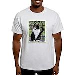 Tuxedo Cat in Window Light T-Shirt