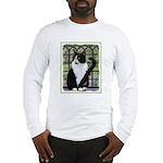 Tuxedo Cat in Window Long Sleeve T-Shirt