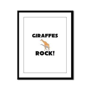 Giraffes Rock! Framed Panel Print