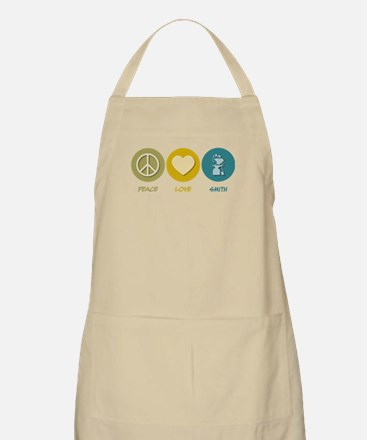 Peace Love Smith BBQ Apron