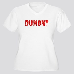 Dumont Faded (Red) Women's Plus Size V-Neck T-Shir