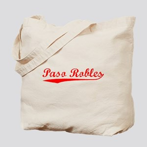Vintage Paso Robles (Red) Tote Bag