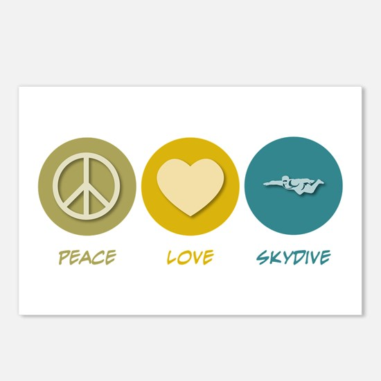 Peace Love Skydive Postcards (Package of 8)