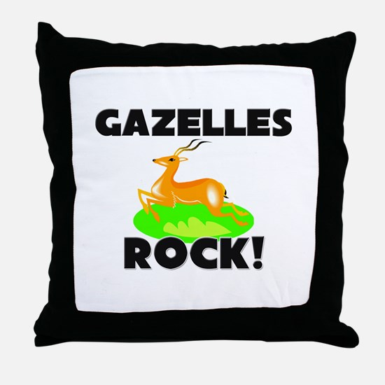 Gazelles Rock! Throw Pillow