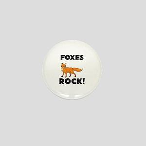 Foxes Rock! Mini Button