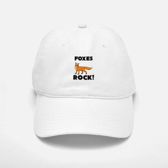 Foxes Rock! Baseball Baseball Cap