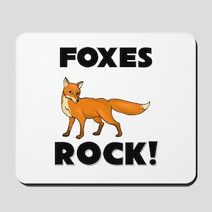 Foxes Rock! Mousepad