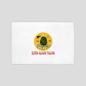 Born Again Pagan Sun Tree 4' x 6' Rug