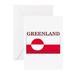 Greenland Greenlander Flag Greeting Cards (Pk of 1