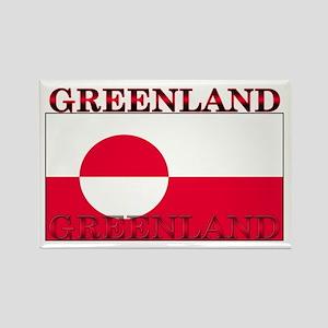 Greenland Greenlander Flag Rectangle Magnet