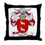 Calvo Family Crest Throw Pillow