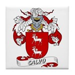 Calvo Family Crest Tile Coaster