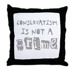 Conservatism is not a Crime Throw Pillow