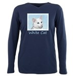 White Cat Plus Size Long Sleeve Tee