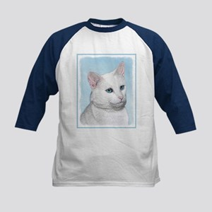 White Cat Kids Baseball Tee