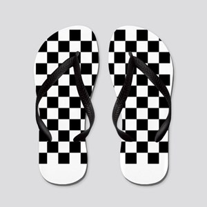 Checkered Flag Racing Design Chess Chec Flip Flops