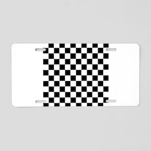 Checkered Flag Racing Desig Aluminum License Plate