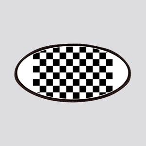 Checkered Flag Racing Design Chess Checkers Patch