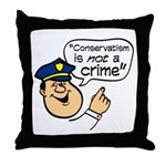 Conservatism Police Throw Pillow