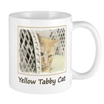 Yellow Tabby Cat 11 oz Ceramic Mug