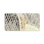 Yellow Tabby Cat Aluminum License Plate