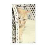 Yellow Tabby Cat Sticker (Rectangle 10 pk)