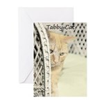 Yellow Tabby Cat Greeting Cards (Pk of 10)