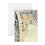 Yellow Tabby Cat Greeting Cards (Pk of 20)