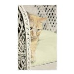 Yellow Tabby Cat Area Rug