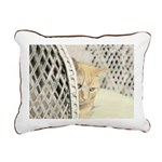 Yellow Tabby Cat Rectangular Canvas Pillow