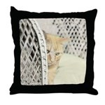 Yellow Tabby Cat Throw Pillow