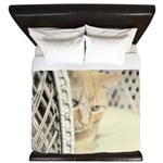 Yellow Tabby Cat King Duvet