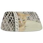 Yellow Tabby Cat Bathmat