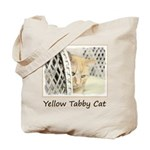 Yellow Tabby Cat Tote Bag