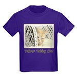 Yellow Tabby Cat Kids Dark T-Shirt