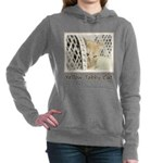 Yellow Tabby Cat Women's Hooded Sweatshirt